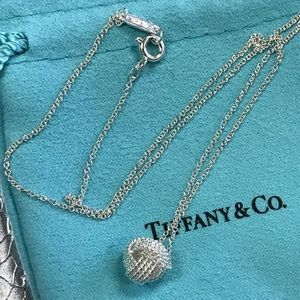 New Tiffany & Co twist knot pendant necklace $160